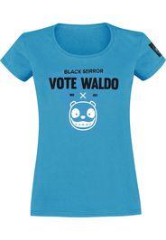 Black Mirror - Vote Waldo - T-Shirt - Donna - blu