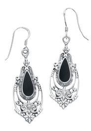 Black Romantic -  - Orecchini - Donna - nero argento