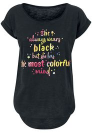 Colorful Mind -  - T-Shirt - Donna - nero