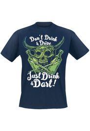 Darts - Just Drink And Dart - T-Shirt - Uomo - blu navy