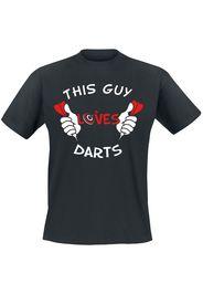 Darts - This Guy Loves Darts - T-Shirt - Uomo - nero