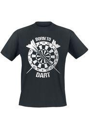Darts - Born To Dart - T-Shirt - Uomo - nero