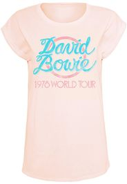 David Bowie - World Tour 1978 - T-Shirt - Donna - rosa pallido
