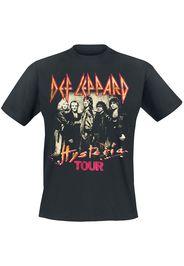 Def Leppard - Hysteria Tour - T-Shirt - Uomo - nero