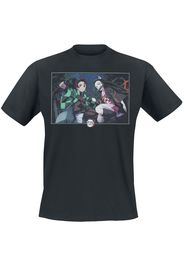 Demon Slayer - Nezuko & Tanjiro Kamado - T-Shirt - Uomo - nero