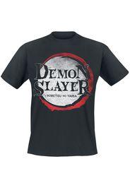 Demon Slayer - Demon Logo - T-Shirt - Uomo - nero