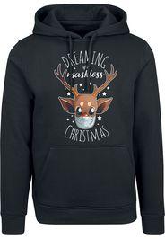 Dreaming Of A Maskless Christmas -  - Felpa con cappuccio - Uomo - nero