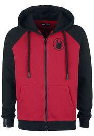 EMP Premium Collection - Red/Black Hooded Jacket with Raglan Sleeves - Felpa jogging - Uomo - rosso nero