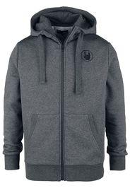 EMP Premium Collection - Grey Hooded Jacket with Embroidery - Felpa jogging - Uomo - grigio