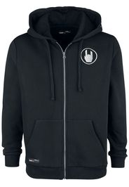 EMP Premium Collection - Black Hooded Jacket with Rockhand Print and Embroidery - Felpa jogging - Uomo - nero