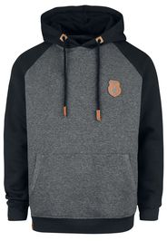 EMP Premium Collection - Grey/Black Hoodie with Raglan Sleeves - Felpa con cappuccio - Uomo - grigio nero
