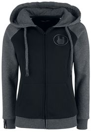 EMP Premium Collection - Black/Grey Hooded Jacket with Raglan Sleeves - Felpa jogging - Donna - nero grigio