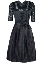 EMP Special Collection - Black Dirndl with Lace Blouse and Rockhand Apron - Abito media lunghezza - Donna - nero
