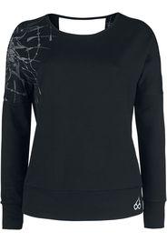 EMP Special Collection - Sport und Yoga - Schwarzes Sweatshirt mit detailreichem Print und Rückenausschnitt - Felpa - Donna - nero