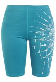 EMP Special Collection - Sport und Yoga - Türkise kurze Leggings mit detailreichem Print - Leggings - Donna - turchese