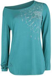 EMP Special Collection - Sport und Yoga - Türkises Langarmshirt mit detailreichem Print - Top - Donna - turchese