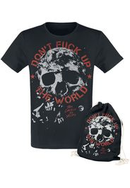 EMP Special Collection - Don't Fuck Up The World - Black T-shirt with Print - T-Shirt - Uomo - nero