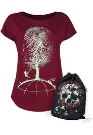 EMP Special Collection - Don't Fuck Up The World - Red T-shirt with Print - T-Shirt - Donna - rosso