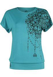 EMP Special Collection - Sport und Yoga - Türkises lockeres T-Shirt mit detailreichem Print - T-Shirt - Donna - turchese