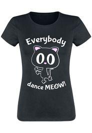 Everybody Dance Meow! -  - T-Shirt - Donna - nero