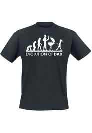 Evolution Of Dad -  - T-Shirt - Uomo - nero