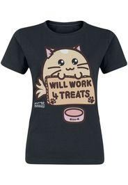 Fuzzballs - Will Work For Treats - T-Shirt - Donna - nero