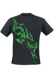 Green Smoky Tribal -  - T-Shirt - Uomo - nero