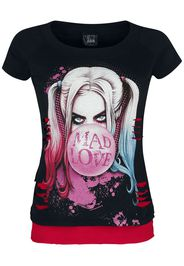 Harley Quinn - Mad Love - T-Shirt - Donna - nero rosso