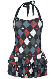 Harley Quinn - Diamond - Costume da bagno - Donna - multicolore