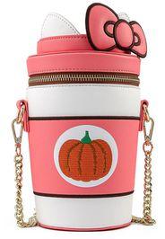 Hello Kitty - Loungefly - Pumpkin Spice Kitty Cup - Borsa a tracolla - Donna - multicolore
