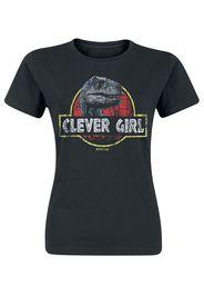 Jurassic Park - Clever Girl - T-Shirt - Donna - nero