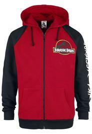 Jurassic Park - Classic Logo - Felpa jogging - Uomo - rosso nero