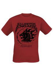 Killswitch Engage - Lion Emblem - T-Shirt - Uomo - rosso scuro
