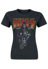 Kiss - Band-Photo - T-Shirt - Donna - nero
