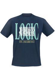 Logic - No Pressure Wavy Navy - T-Shirt - Uomo - blu navy
