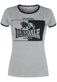Lonsdale London - Uplyme - T-Shirt - Donna - grigio