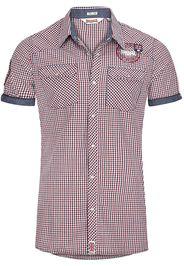 Lonsdale London - Reigate - Camicia a maniche corte - Uomo - blu rosso bianco