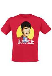 Lupin The 3rd - Arséne Lupin III - T-Shirt - Uomo - rosso