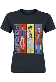 Lupin The 3rd - Stripes - T-Shirt - Donna - nero