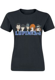 Lupin The 3rd - Heads - T-Shirt - Donna - nero