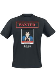 Lupin The 3rd - Wanted - T-Shirt - Uomo - nero