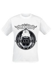 Mastodon - Megalodon - T-Shirt - Uomo - bianco