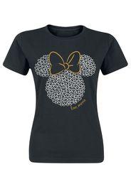 Minnie Mouse - Love - T-Shirt - Donna - nero
