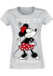 Minnie Mouse - Talk to the hand - T-Shirt - Donna - grigio chiaro screziato