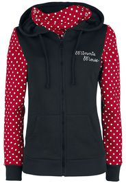 Minnie Mouse - Stay Safe - Felpa jogging - Donna - nero rosso