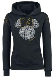 Minnie Mouse - Love - Felpa con cappuccio - Donna - nero