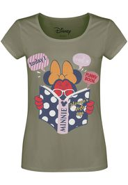 Minnie Mouse - Today I read a funny book - T-Shirt - Donna - cachi