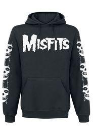 Misfits - Skull / Logo - Felpa con cappuccio - Uomo - nero