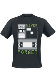 Never Forget -  - T-Shirt - Uomo - nero