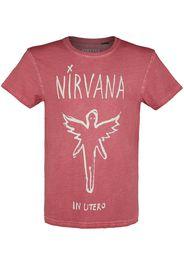 Nirvana - In Utero - T-Shirt - Uomo - rosso